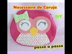 Necessaire de Coruja em feltro Passo a passo -Artesanato-DIY - YouTube