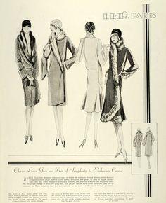1928 Print McCalls Paris Flapper Dressmaking Patterns Frocks Hats Fur Jewelry | eBay