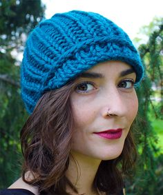 d8811ecc913 Free Knitting Pattern for Easy One Ball Peaked Cap Knitting Patterns Free