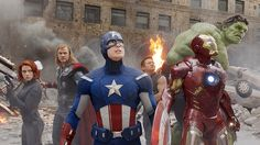 Credit: W.Disney/Rex Features This is what the fans wanted. The Avengers, from left: Scarlett Johansson as Black Widow, Chris Hemsworth as Thor, Chris Evans as Captain America, Jeremy Renner as Hawkeye, Robert Downey Jr as Iron Man, Mark Ruffalo as The Hulk. The 2012 movie has it all and is the third highest grossing film of all time behind Avatar and Titanic
