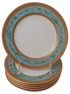 One Kings Lane - The Real Dish - Royal Worcester Plates, C. 1880, S/6