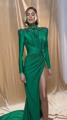 Classy Dress, Green Dress, Dresses, Vestidos, Smart Dress, Green Gown, Dress, Gown, Luxury Dress