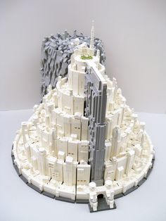 Minas Tirith. So I totally thought this was a wedding cake. My fellow nerds there's and idea for you, please except my jealously because I already had my wedding :-(