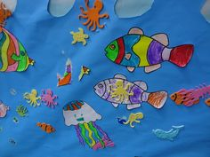 Great activity for an under the sea birthday party... decorating the ocean #underthesea #birthday #activity