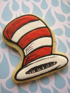 Quick Brown Fox Bakery Blog: Cat in the Hat Cookies for a Dr. Seuss Baby Shower!