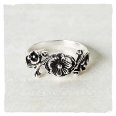 Flowering Vine Ring ($30) this would work but I would want an amethyst worked into it