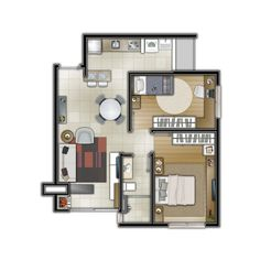 Explore 3DIMAGEMSTUDIO photos on Flickr. 3DIMAGEMSTUDIO has uploaded 1722 photos to Flickr. Small Apartment Plans, Small Loft Apartments, Studio Apartment Floor Plans, Small Apartment Design, Mini House Plans, Small House Floor Plans, Model House Plan, Hotel Floor Plan, 2 Bedroom House Plans