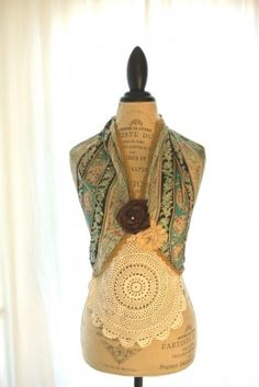 Upcycled bohemian halter top funky boho chic womens clothing