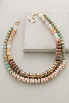 Anthropologie Layered Beadwork Necklace #anthrofave