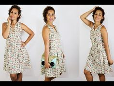 Tutorial de Costura - Vestido Corujinha Com Pregas - YouTube