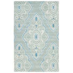 Wyndham Blue Tufted Wool Rug. #laylagrayce #rug #new