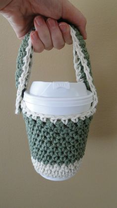 crochet+holder+pattem. | Ruby Knits: Free Pattern Friday is BACK - Crochet To Go Cup Holder