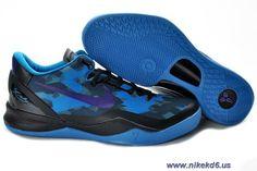 New Nike Zoom Kobe VIII 8 555035-010 Black Blue Purple