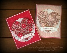 Stampin' in the Sand: Stamp It Valentine's Blog Hop! Stampin Up bloomin heart die cards