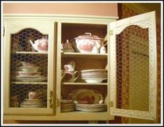 Interior Decorator Wayne Shielly wanted visible storage in his Memphis kitchen, so he replaced the wood panels in his upper cabinet doors with chicken wire. Follow the steps of his cabinet door makeover to update your kitchen, or to jazz up a piece of flea market furniture.: Instructions