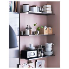 IKEA LIMHAMN Wall shelf Stainless steel 60x20 cm Shelves in stainless steel, a hygienic, strong and durable material that is easy to keep clean.