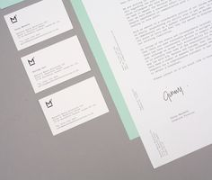 Logo, business card and headed paper designed by This Is Studio for specialist music industry PR firm Macbeth Media Relations