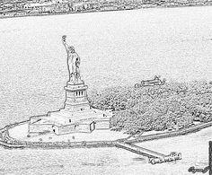 Imprimer Coloriage Statue De La Liberte Copie