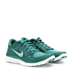 Nike Nike Free 5.0 Sneakers ($163) ❤ liked on Polyvore featuring shoes, sneakers, sports, nike, 18. shoes., green, nike trainers, sport shoes, nike footwear and green shoes