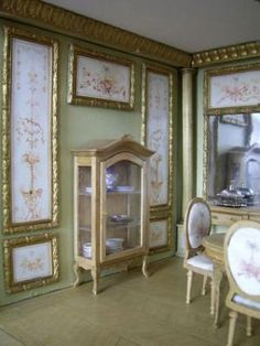 Easy to replicate by framing sections of wallpaper!