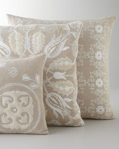 Design Accents Embroidered Accent Pillows - Horchow