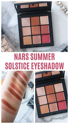The NARS Summer Solstice eyeshadow palette has 9 beautiful warm shades designed for a golden goddess! Is it hot girl summer approved? #makeuplover #makeupaddict #makeup #NARSSIST #beautyproducts #beautyblog #beautytrend Makeup Trends, Beauty Trends, Makeup Ideas, Nars Eyeshadow, Eyeshadow Palette, Beauty Makeup, Eye Makeup, Easy Makeup Tutorial, Golden Goddess