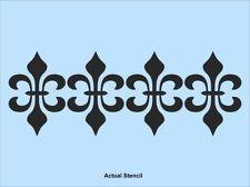 FLEUR DE LIS  BORDER STENCIL - WALL STENCIL, PAINTING STENCIL