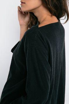 Eva Dress in Raw Silk Broadcloth