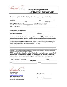 bridalhaircotract | Site Makeup Services Contract Agreement This Stipulates