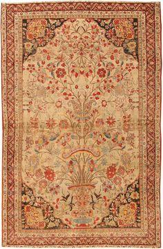 Antique Kerman Persian Rug 2796 - Detailed Photo | Large Image