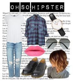 """oh so hipster"" by ennu on Polyvore featuring Current/Elliott, Dr. Martens, Victoria Beckham, Daniel Wellington, women's clothing, women's fashion, women, female, woman and misses"