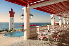 The Oyster Box hotel, Umhlanga (near Durban), South Africa . Top Hotels, Hotels And Resorts, Best Hotels, Luxury Hotels, Kwazulu Natal, Flight And Hotel, Bucket List Destinations, Rooftop Bar, Free Travel