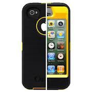 iPhone 4/4S OtterBox Defender Series Case with Holster- Black/Yellow