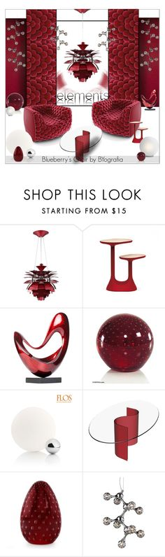 """Blueberry's Chair by BYografia"" by struga-art-80 ❤ liked on Polyvore featuring interior, interiors, interior design, home, home decor, interior decorating, Modway, Moustache, NOVICA and Flos"
