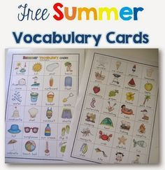 FREE Summer Voacbulary Chart from Clever Classroom