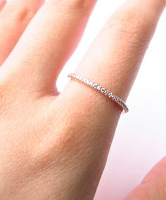 Rose Gold Pavé Band $59.00. I would actually love this for a wedding band.