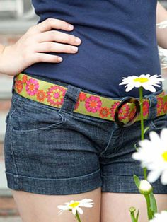 Make a belt - I can't seem to find a green belt for the outfit I pinned so maybe I'll make one!