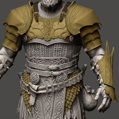 ArtStation - Igor Catto Zbrush Character, 3d Character, Character Concept, Concept Art, Samurai Armor, Knight Armor, Arm Armor, Armadura Viking, Armadura Medieval