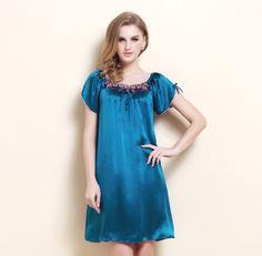 Women's silk robes silk pajamas silk nightgowns silk nighties silk sleepwear silk nightwear silk chemise camisole (131)