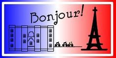 Bonjour is French for Welcome! Poster