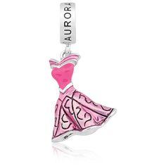 Pingente Prata Vestido Princesa Aurora - Princesas Life Moments | R$170,00