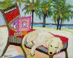 Yellow Dog in Paradise by Karen Fields