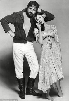 Oliver Reed.... seen posing with actress Madeline Smith
