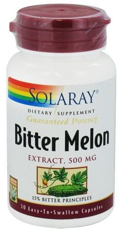 Solaray - Bitter Melon Extract, 500 mg, 30 capsules by Solaray. $10.33. Solaray Guaranteed Potency Bitter Melon Extract 500 mg.   Solaray Bitter Melon Extract has been used in various Asian traditional medicine systems for a long time. Like most bitter-tasting foods, bitter melon stimulates digestion. Solaray Bitter Melon can be helpful in people with sluggish digestion, dyspepsia, and constipation. Solaray Bitter Melon is also a demulcent and mild inflammation modulator.
