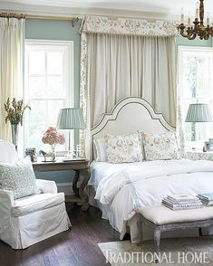 """1,445 Likes, 12 Comments - Traditional Home (@traditionalhome) on Instagram: """"#tbt to our October 2011 issue when we featured this beautiful canopied guest #bed. #mytradhome…"""""""