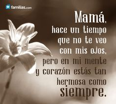 Me haces falta madre Mother Quotes, Mom Quotes, People Quotes, Life Quotes, Random Quotes, Miss My Mom, I Love Mom, Spanish Inspirational Quotes, Spanish Quotes