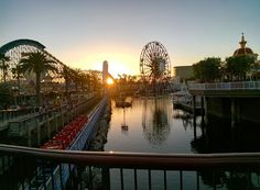 Sunset at Disneyland California Adventure #throughglass