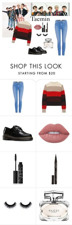 """Taemin ( Shinee) "" 1 of 1"""" by melissa-piv ❤ liked on Polyvore featuring Paige Denim, rag & bone, Dr. Martens, Lime Crime, NARS Cosmetics, Smith & Cult, Gucci, kpop, shinee and taemin"
