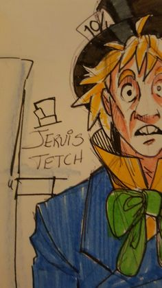 introducingemy:  Jervis Tetch as the Mad Hatter morning sketch!
