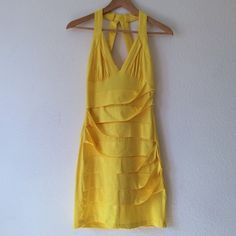 Windsor Yellow Party Dress Cute Windsor yellow party dress. It's fitted and very figure flattering with an exposed back and deep v neck line. Only worn once and still in great condition. REASONABLE OFFERS ACCEPTED WINDSOR Dresses